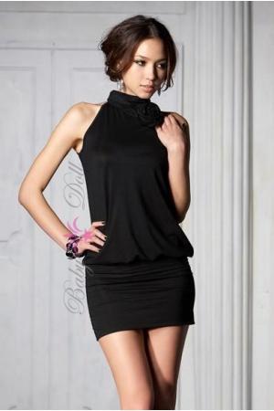Rochie neagra de seara Black Elegance S-M
