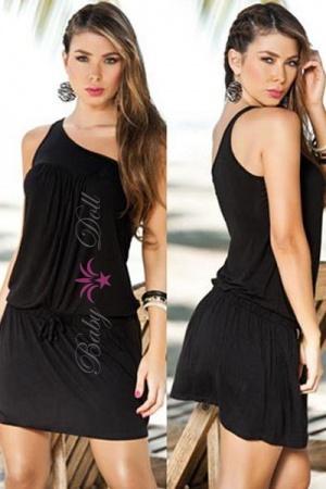 Rochie neagra Elegant Cara S-M