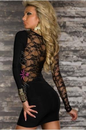 Rochie neagra dantela Hot Natalie L-XL