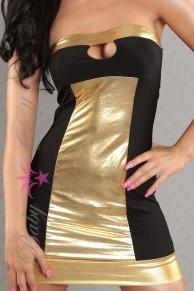 Rochie neagra-aurie Sensual Gold S-M
