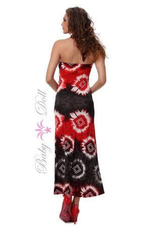 Rochie neagra rosie lunga Sweet Ava M